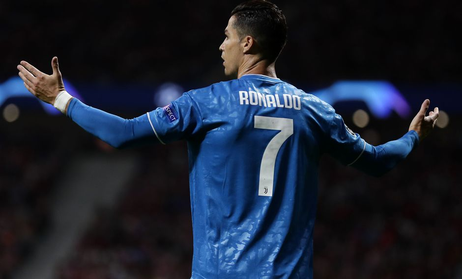 Juventus' Cristiano Ronaldo reacts during the Champions League Group D soccer match between Atletico Madrid and Juventus at Wanda Metropolitano stadium in Madrid, Spain, Wednesday, Sept. 18, 2019. (AP Photo/Manu Fernandez)