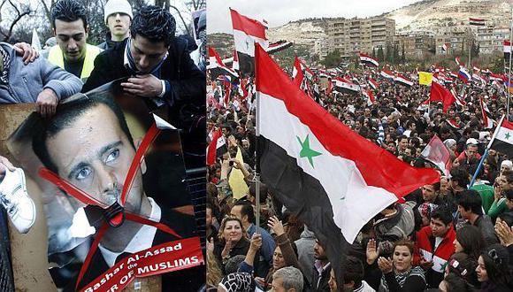 SIN TREGUA. Miles de refugiados se manifestaron en contra del régimen de Bashar al Assad. (Reuters)