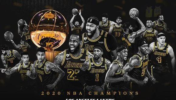 Con la nueva consagración, los Lakers igualaron a los Boston Celtics como la franquicia más ganadora de la historia de la NBA. (Foto: Lakers)