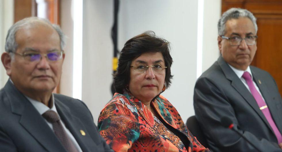 La presidenta del TC, Marianella Ledesma, participó en la sesión para escuchar las respuesta de Marco Tulio Falconí. (Foto: GEC)