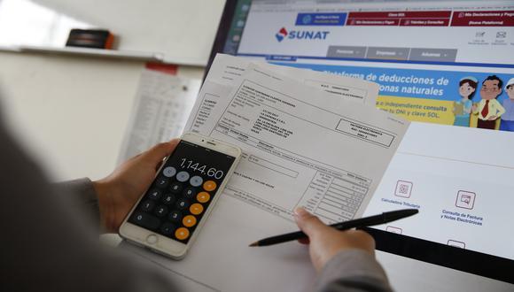 Ingresar a la página web de Sunat para realizar la declaración del Impuesto a la Renta. (Foto: GEC)
