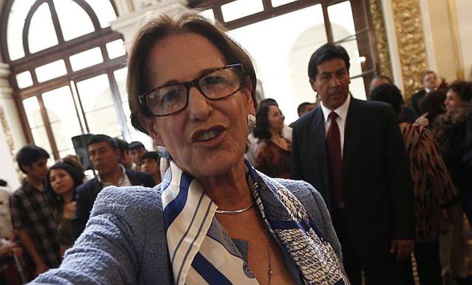 Susana Villarán, indignada porque Vladimir Huaroc se fue con Keiko Fujimori. (César Fajardo/Perú21)