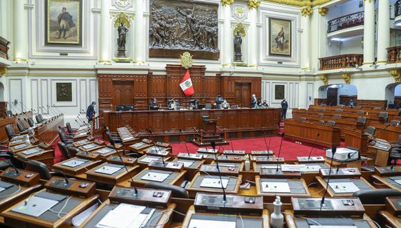 El Pleno se suspendió nuevamente tras la denuncia formulada por congresistas de Acción Popular contra la bancada del Frente Amplio. (photo.gec)