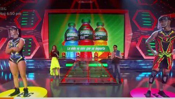 """Angie Arizaga y Jota Benz protagonizan tenso momento en """"Esto es Guerra"""". (Foto: captura de video)"""