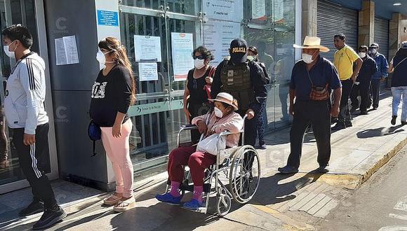 Tacna. Un total de 954 beneficiarios de Pensión 65 recibirán el pago de su bono en sus viviendas. (GEC)