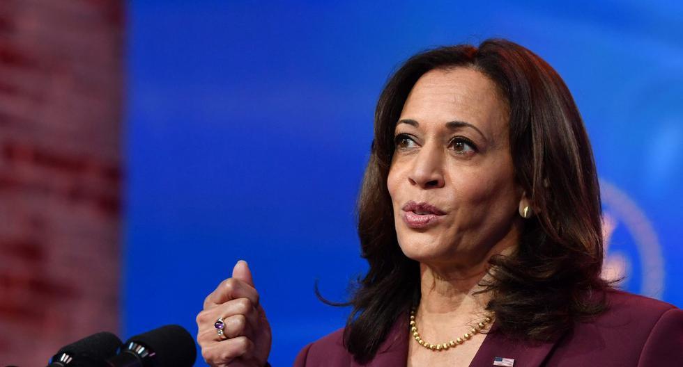 Imagen de la vicepresidenta de Estados Unidos, Kamala Harris. (Nicholas Kamm / AFP).