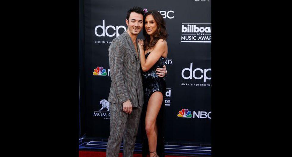 Kevin Jonas y Danielle Jonas en Billboard Music Awards 2019. (AFP)