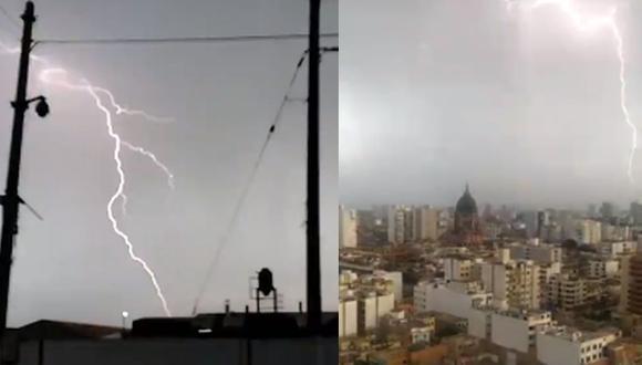 La novedad vivida esta semana es que la tormenta eléctrica acaecida no venía de la sierra. Venía del mar, señala el columnista.  (Foto: capturas de Twitter)