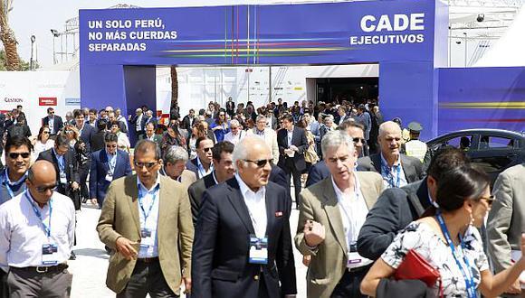 El evento de inauguración de CADE 2018 será esta tarde a las 4.pm. en Paracas. (Foto: GEC)