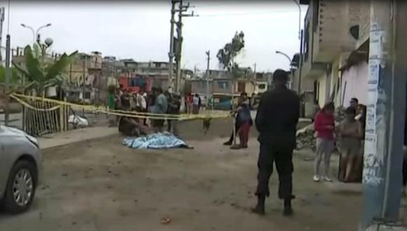 Un hombre muere tras una balacera registrada en la zona Los Portales de Pachacamac en Villa El Salvador. (Captura: América Noticias)