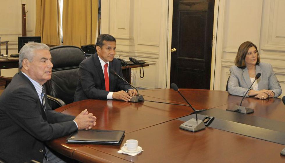 Ollanta Humala se reunió primero con todos sus ministros. (Difusión)