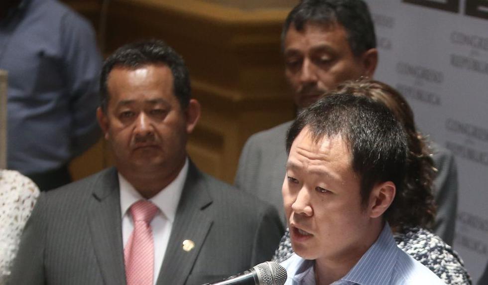 Kenji Fujimori (derecha), Guillermo Bocángel (centro) y Bienvenido Ramírez (izquierda) fueron los legisladores suspendidos. (Perú21)