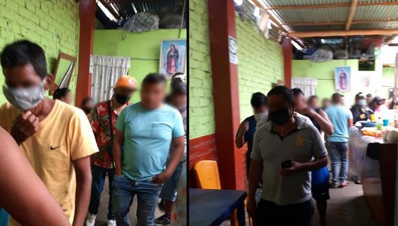 Sullana: Sesenta personas caen tomando alcohol en bar sin temor a contagiarse de COVID-19 (Foto: Municipalidad de Sullana)
