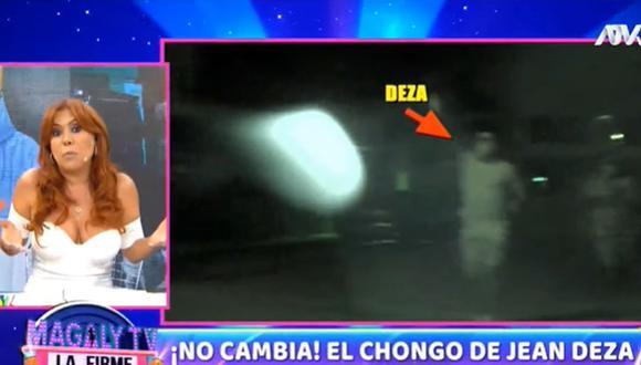 Jean Deza fue captado infringiendo la ley seca, según las cámaras de Magaly Medina. (Foto: Captura de video)