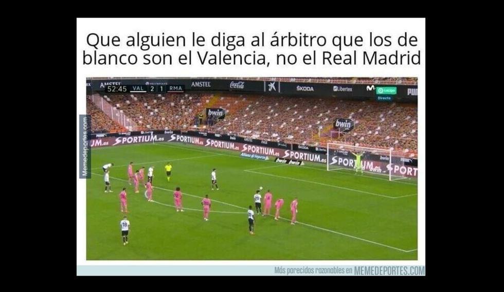 Los mejores memes de la paliza que Real Madrid sufrió ante Valencia. (Memedeportes)