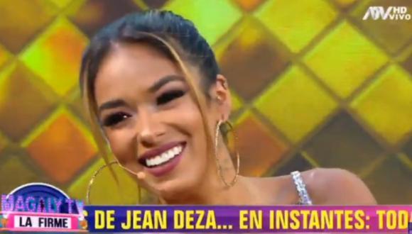 """Shirley Arica sobre su relación con Jean Deza: """"Me dijo que nunca me había dejado de amar"""". (Foto: Captura de video)"""