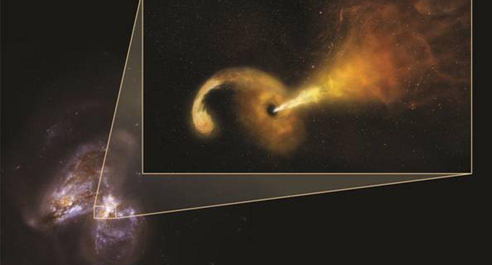 Astrónomos captan preciso momento del desgarro de una estrella por un agujero negro. (Nasa)