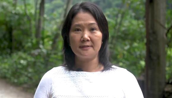 """Keiko Fujimori resaltó que la actual Constitución """"permitió consolidar la paz y rescatar a millones de peruanos de la pobreza"""". (Captura video)"""