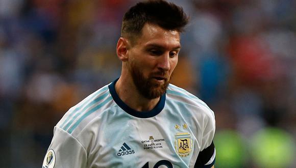 Lionel Messi no es ajeno al himno de Argentina. (Foto: AFP)