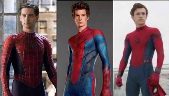"""Tobey Maguire, Andrew Garfield y Tom Holland dieron vida a """"Spider-Man"""" en las diversas cintas de Marvel. (Foto: Marvel)"""
