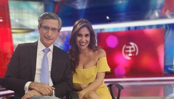 Federico Salazar regresó a la conducción de América Noticias tras superar el COVID-19. (Foto: @veronicalinares)