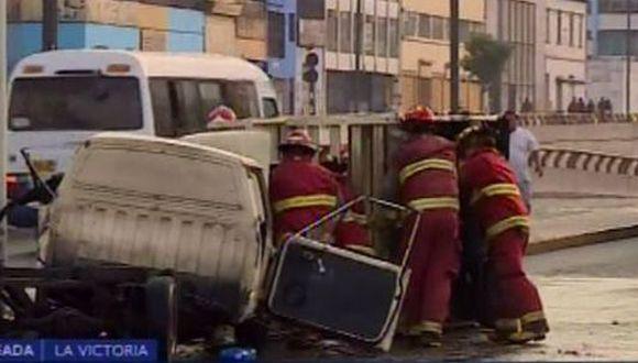 El suceso causó alarma en la zona. (Foto: Captura/Canal N)
