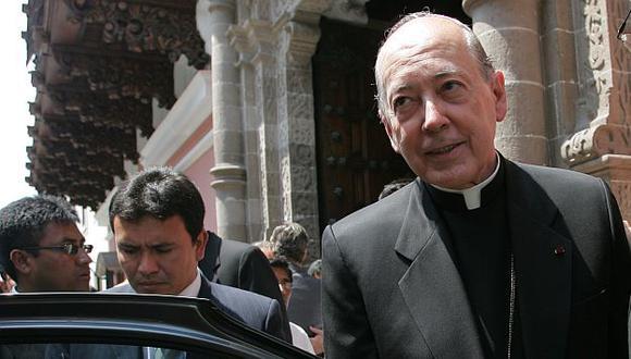 Juan Luis Cipriani no quiso ahondar más sobre el caso del exobispo acusado de pedofilia. (USI)