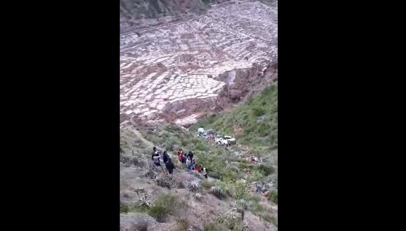 El accidente ocurrió a pocos metros de las Salineras de Maras. (Captura)