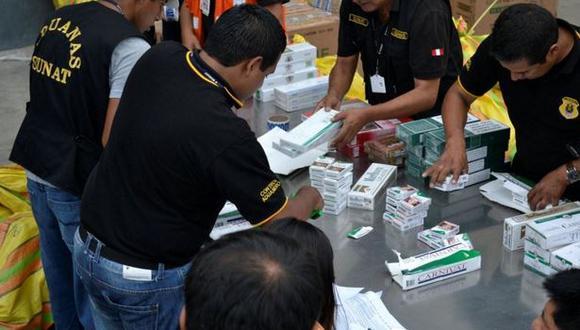 Sunat incautó más de tres toneladas y media de cigarrillos de contrabando