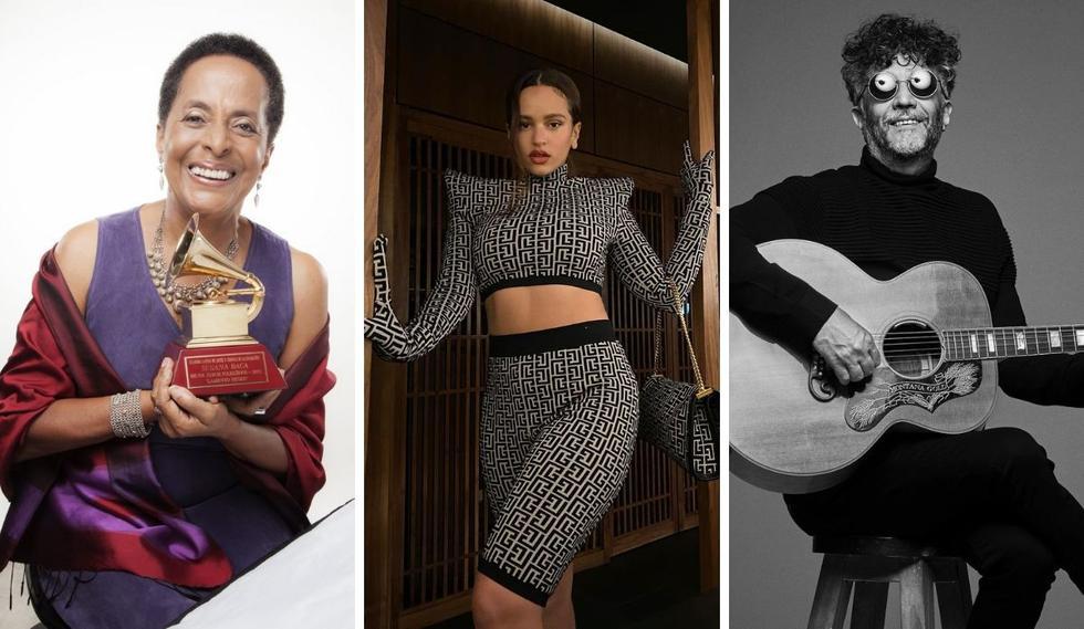 Ya se conocen los resultados de más de 35 categorías de los Latin Grammy. (Foto: Instagram / @fitopaezmusica / @rosalia.vt / Susanabaca).