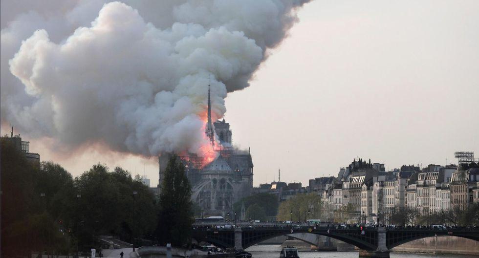 El lamentable incendio de Notre Dame en imágenes. (EFE)