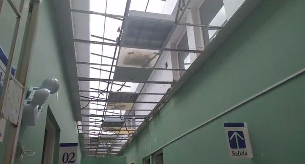 Lluvias destrozaron el techo del Hospital de Apoyo de Chulucanas. (Noticias Piura3.0)