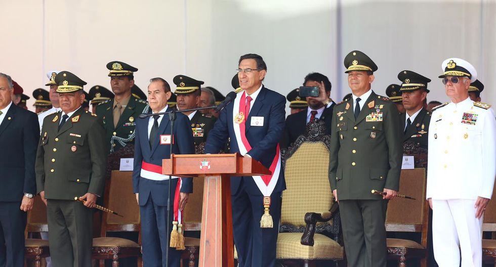"""Vizcarra afirmó que """"estamos en el camino de un nuevo desarrollo y bienestar"""". (Foto: Hugo Curotto/ GEC)"""