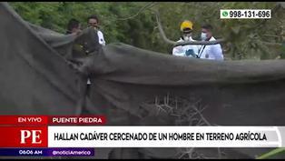 Hallan cuerpo cercenado en una zona agrícola en Puente Piedra