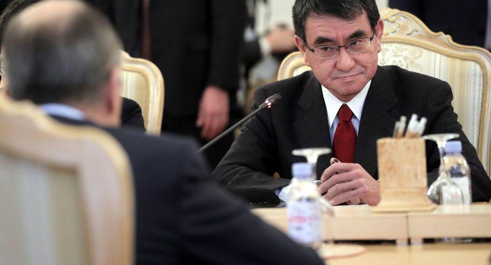 """""""Estamos muy preocupados"""", señaló ministro japonés de Relaciones Exteriores, Taro Kono, en la víspera del inicio de la cumbre del G20 en Osaka. (Foto: EFE)"""