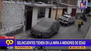 Chorrillos: Incrementan asaltos de 'raqueteros' en la Av. Alameda Horizontes