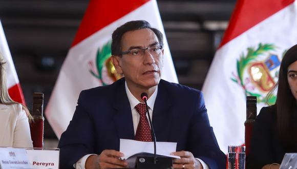El presidente Vizcarra convocó a las fuerzas políticas a no perder más tiempo y sacar adelante las reformas (Presidencia).