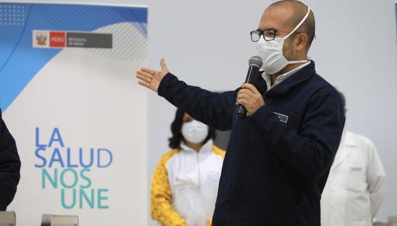 El ministro de Salud indicó que tomarán medidas de prevención para que menos población necesite de hospitalzación por COVID-19. (Foto: Minsa)