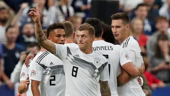 Toni Kross puso el primero en el Francia vs. Alemania por UEFA Nations League. (Foto: Reuters)