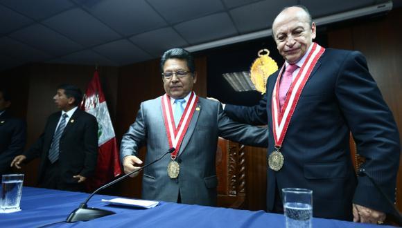 MUCHO QUE EXPLICAR. Fiscales supremos José Peláez y Carlos Ramos deberán responder ante comisión parlamentaria. (Perú21)