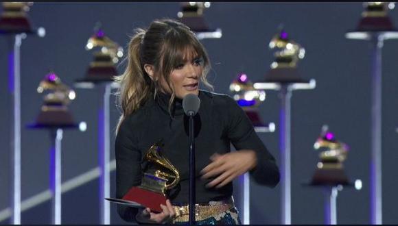 Kany García le dedicó su Premio Grammy Latinos a Gian Marco, con quien competía para Mejor álbum cantautor. (Facebook Latin Grammy)