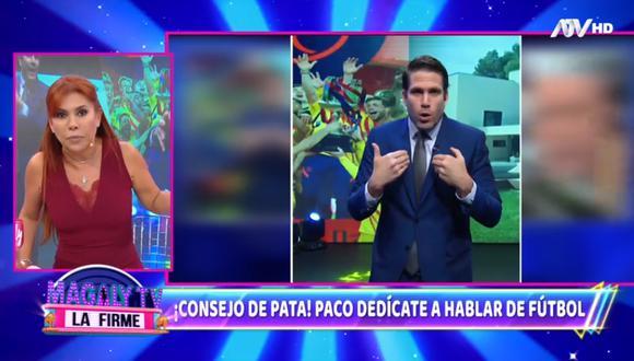 """Magaly Medina se pronuncia sobre comentarios de Paco Bazán en el programa """"El Deportivo"""". (Foto: Captura ATV)"""
