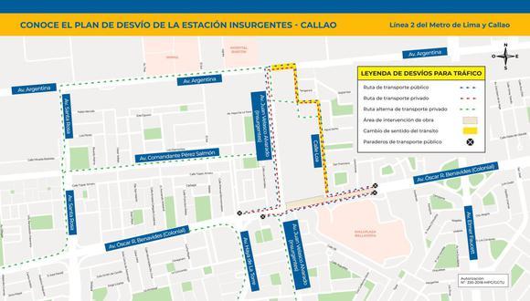 La Línea 2 del Metro de Lima detalló que la medida se aplicará desde el 26 de mayo y abarcará cuatro cuadras. (Facebook)