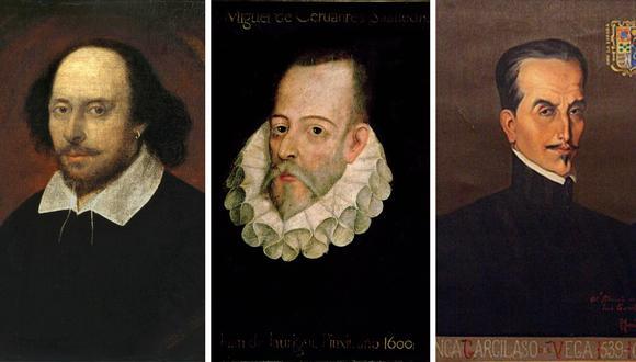 William Shakespeare, Miguel de Cervantes e Inca Garcilaso De la Vega son algunos de los escritores que se conmemoran hoy, 23 de abril. (Internet)