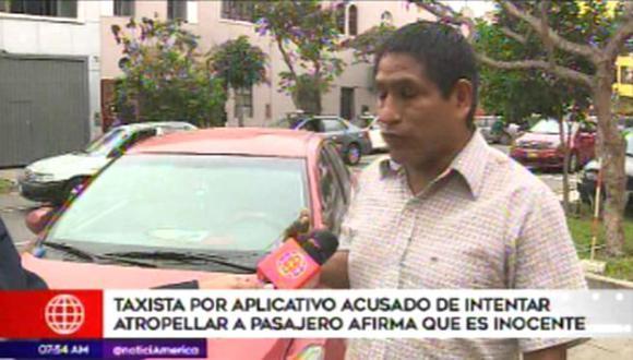 El taxista se defiende. (Foto: Captura/América Noticias)