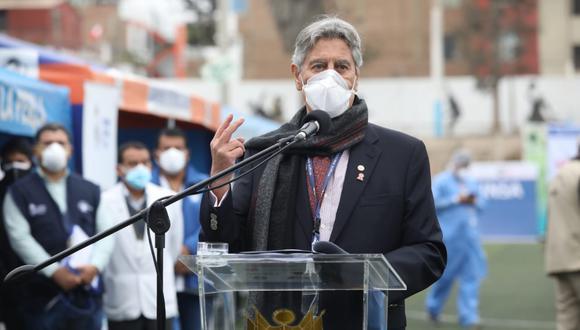 El presidente Francisco Sagasti saludó la proclamación de parte del JNE de Pedro Castillo como el próximo mandatario del Perú. (Foto: GEC)