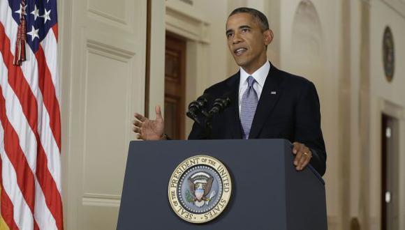 Discurso de Obama duró 15 minutos. (AP)