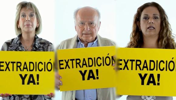 Deudos exigen la extradición de Alan Azizollahoff y Édgar Paz. (Foto: Facebook)