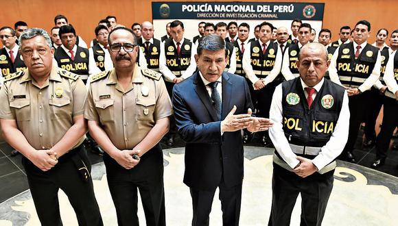 MANO FIRME. Unidad estará conformada por los mejores investigadores de la Policía, señaló Morán. (Mininter)