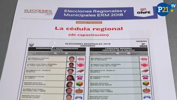 Estos son los tipos de cédulas que recibirás este 7 de octubre. (Perú21)